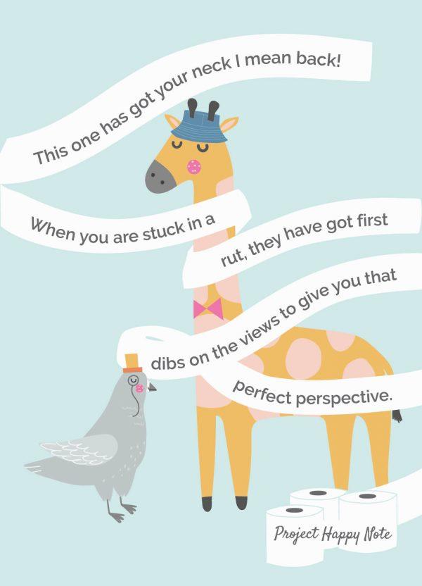 Giraffe and Pigeon