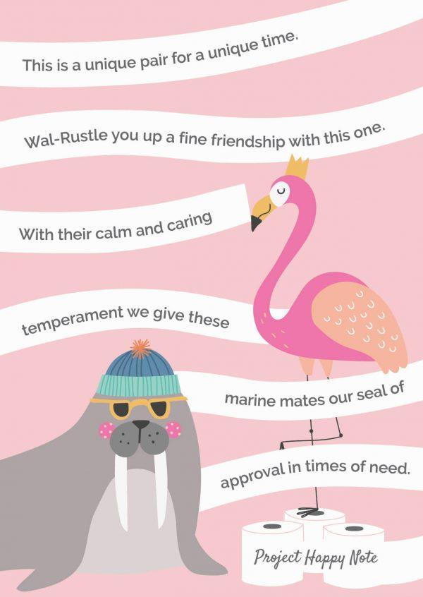 Flamingo and Walrus