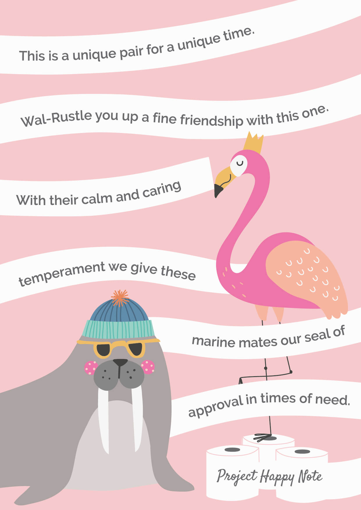 Flamingo and Walrus